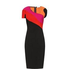 Geometric Print Fitted Dress