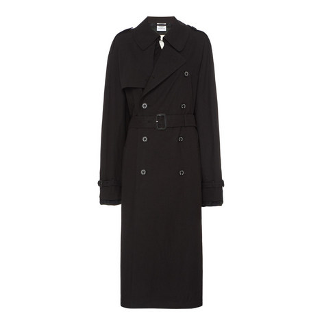 Relaxed Fit Trench Coat, ${color}