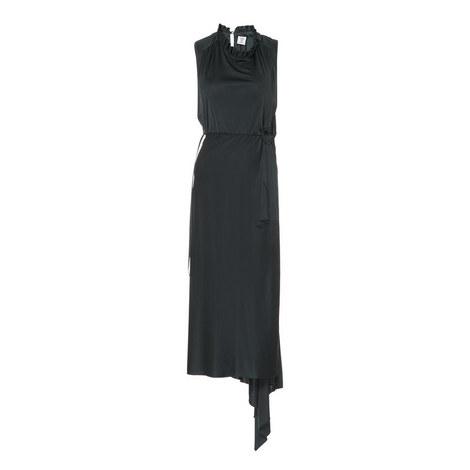 Asymmetric Wrap Dress, ${color}