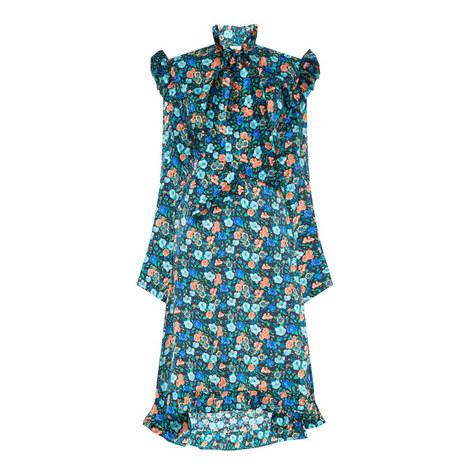 Biker Frill Silk Dress, ${color}