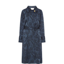 Satin Jacquard Trench Coat