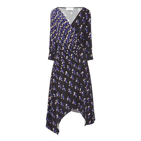 Silk Crêpe Wrap Dress, ${color}