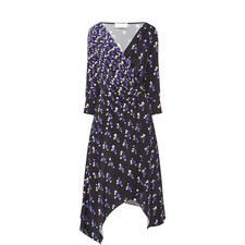 Gathered Silk Crepe Dress