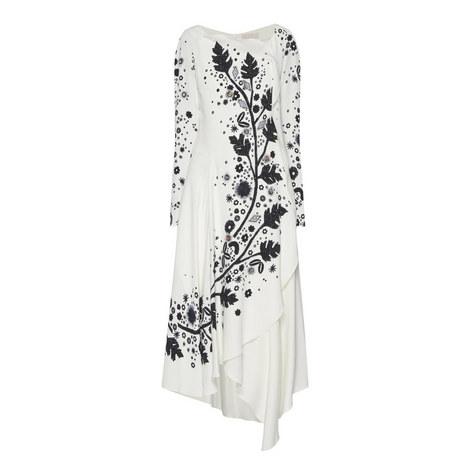Embellished Print Dress, ${color}