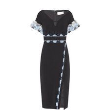 Scalloped Detail Cady Dress