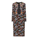Cady Fitted Print Dress, ${color}