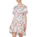 Printed Off-Shoulder Dress, ${color}