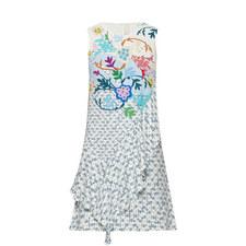 Crepe Print Sleeveless Dress