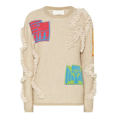 Relaxed Motif Sweater, ${color}