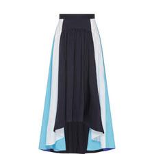 Draped Panelled Skirt
