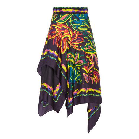 Asymmetric Scarf Skirt, ${color}