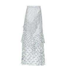 Print Silk Maxi Skirt