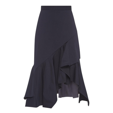 Frill Drape Skirt , ${color}