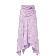 Satin Jacquard Wrap Skirt