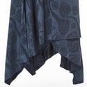 Satin Jacquard Wrap Skirt, ${color}