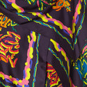 Printed Scarf Blouse, ${color}