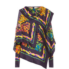 Printed Scarf Blouse