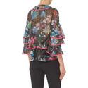 Floral Print Ruffle Blouse, ${color}