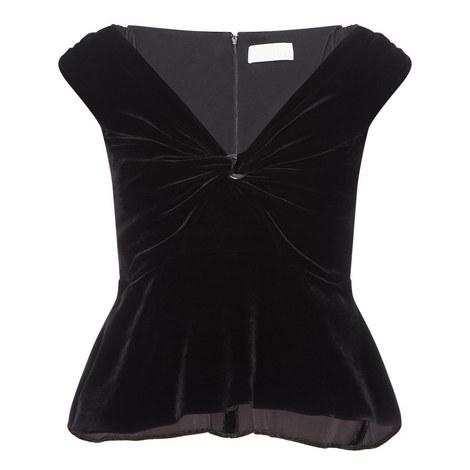 Off-Shoulder Velvet Top, ${color}