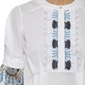 Lace-Trimmed Blouse, ${color}