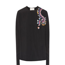Long-Sleeved Embellished Top