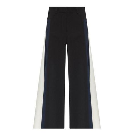 Contrast Stripe Cady Culottes, ${color}