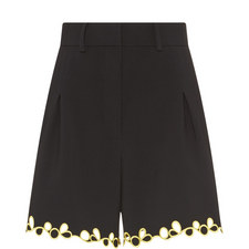 Embroidered Cady Shorts