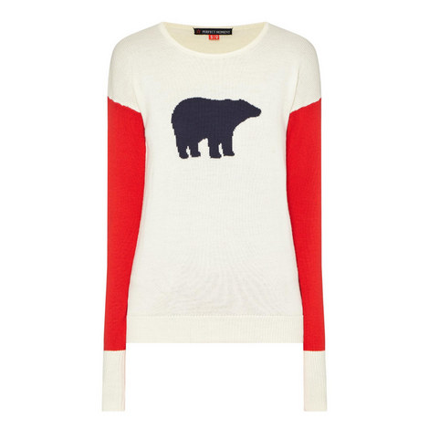 Colour-Block Bear Sweater, ${color}
