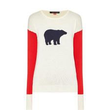 Colour-Block Bear Sweater