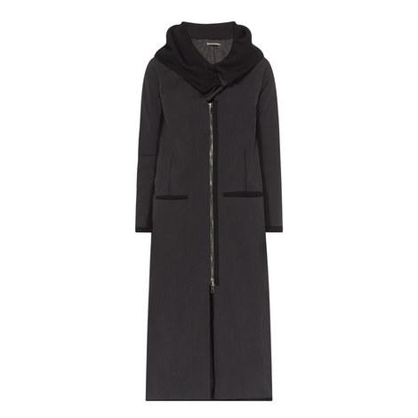 Zip-Through Longline Coat, ${color}