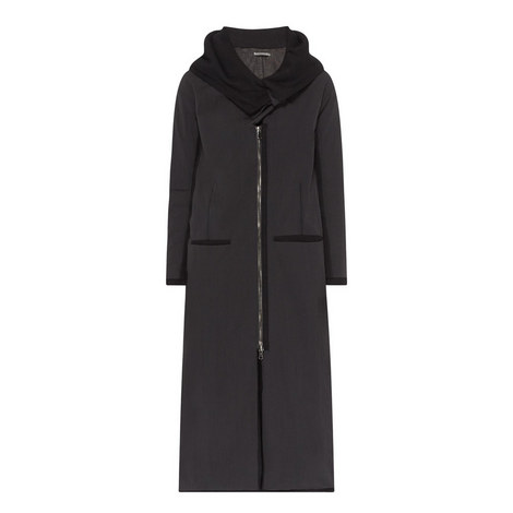 Zip-Through Longline Coat, ${color}