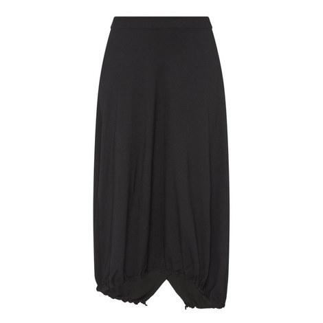 Drawstring Hem Skirt, ${color}