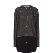 Contrast Stitching Coat