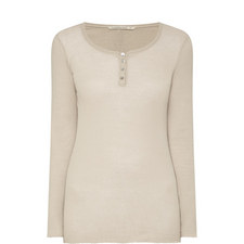 Long-Sleeved Button Top