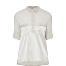 Short-Sleeved Silk Shirt