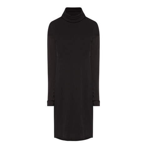 Polo Neck Knit Dress, ${color}