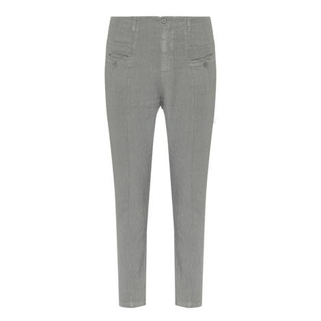 Slim Linen Trousers, ${color}