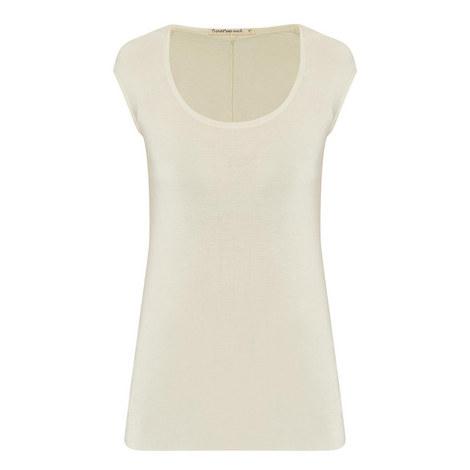 Raw Hem Cap Sleeve T-Shirt, ${color}