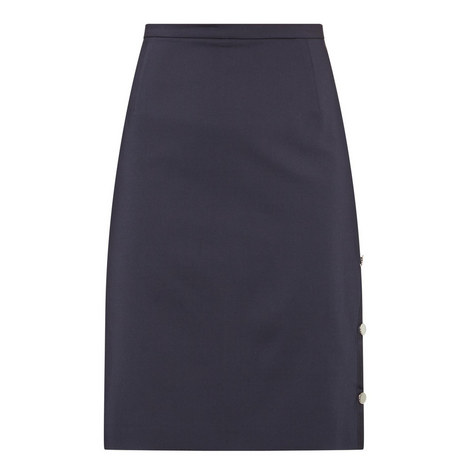 Buttoned Pencil Skirt, ${color}