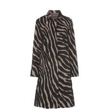 Dona Zebra Stripe Coat
