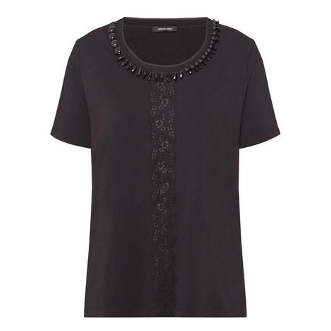 Jewel Neck T-Shirt, ${color}