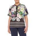 Floral Striped T-Shirt, ${color}