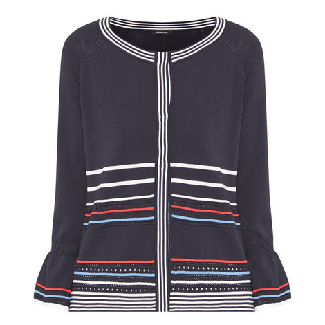 Stripe Pointelle Cardigan, ${color}