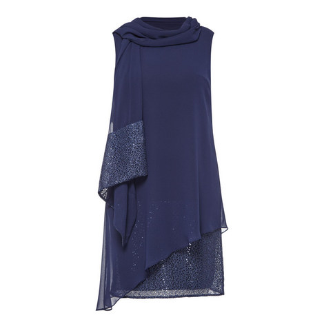 Sequin Dress and Scarf, ${color}