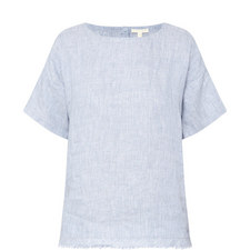 Chambray Linen Top