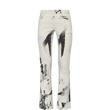 Clips Print Straight Fit Trousers