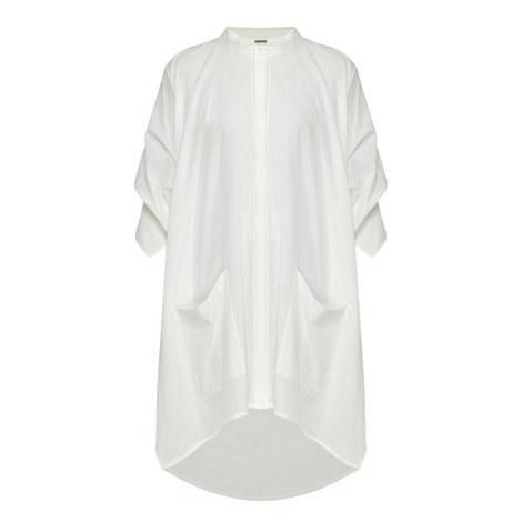 Keo Gathered Draped Shirt, ${color}