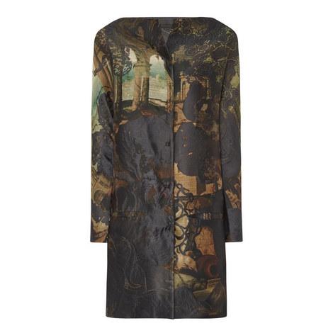 Jacquard Cocoon Coat, ${color}