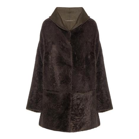 Minsk Reversible Shearling Coat, ${color}