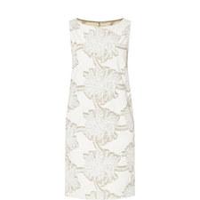 Jacquard Flower Print Dress